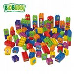 BiOBUDDi - Learning to build 100 blocks - Eco Friendly Block Set - 100 Blocks